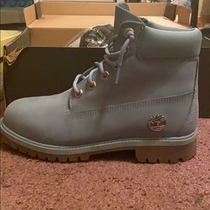 Baby blue timberlands